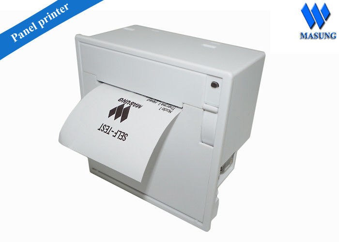 58 Mm White Usb Thermal Receipt Printer For Panel Kiosk , Customization Shell Color