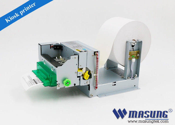 Queue machine system mini USB kiosk thermal printer module with presenter for self-service terminal
