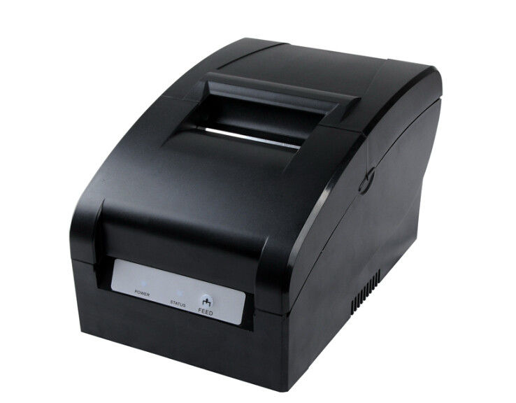 USB 9-pins Impact Dot Matrix Printer Black 4.5 Lines/Sec  , Ticket Receipt Printer